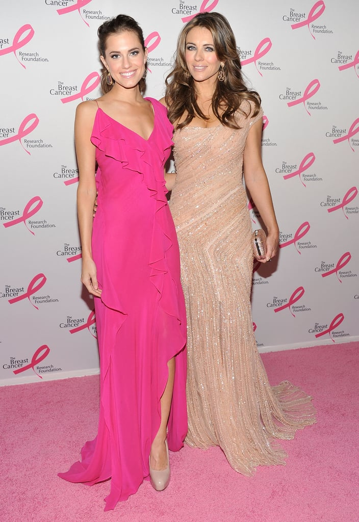 In NYC, Elizabeth Hurley linked up with Allison Williams at the Hot Pink Party she hosted in April in honor of the Breast Cancer Research Foundation.