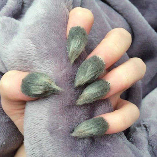 Furry Grinch Nails
