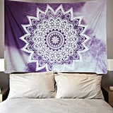 Purple Mandala Tapestry Wall Hanging