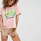 ASOS Avocado Avocuddle Tee & Short Pajama Set