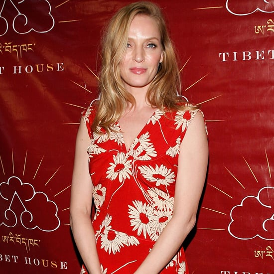 Uma Thurman Wears Sorel Boots to Christie's