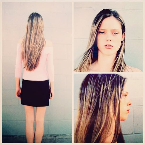 """Before she was a supermodel, she was just """"A Canadian school girl [with] long weirdly highlighted hair and someone asked me to take pics for a modeling agency."""" Source: Instagram user cocorocha"""