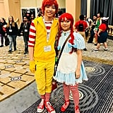Ronald McDonald and Wendy