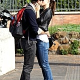 Olivia Wilde and Jason Sudeikis got romantic during a trip to Rome in October 2012.