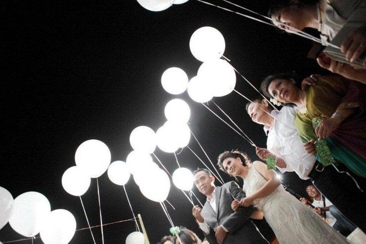 White LED Lights For Balloons
