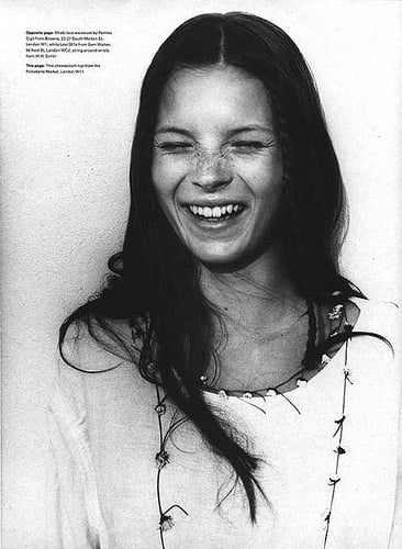 Kate Moss does The Face-1990