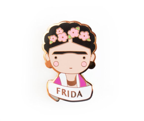 Frida Kahlo Brooch Pin
