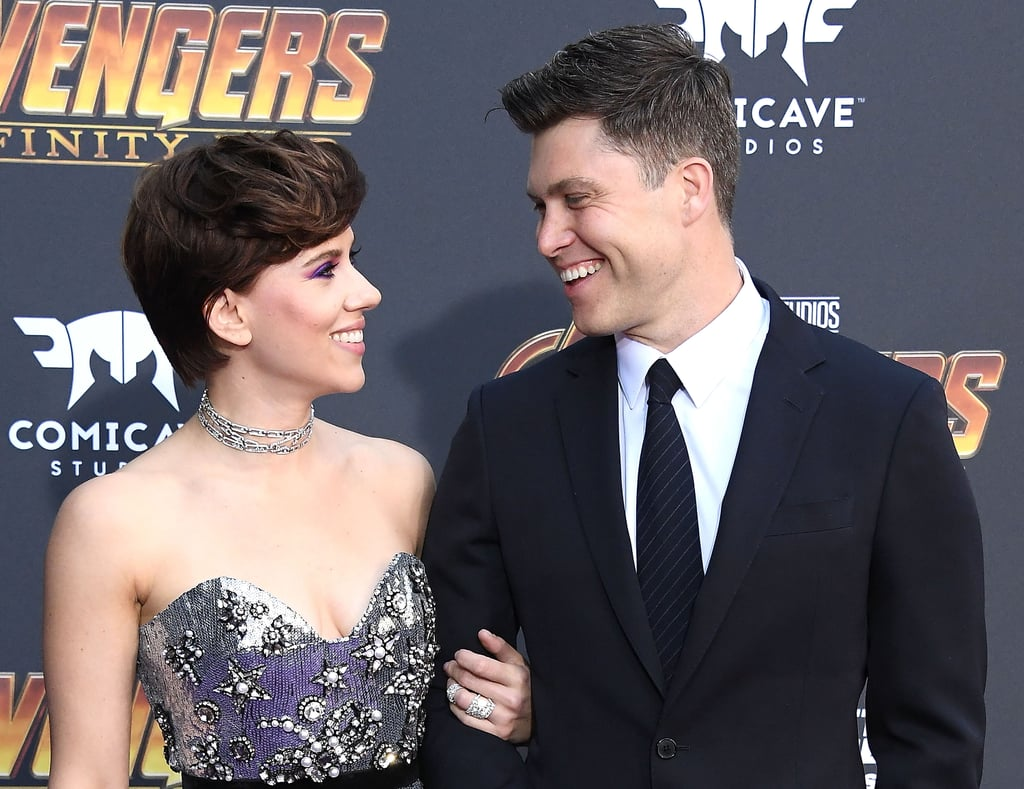 Pictured: Scarlett Johansson and Colin Jost