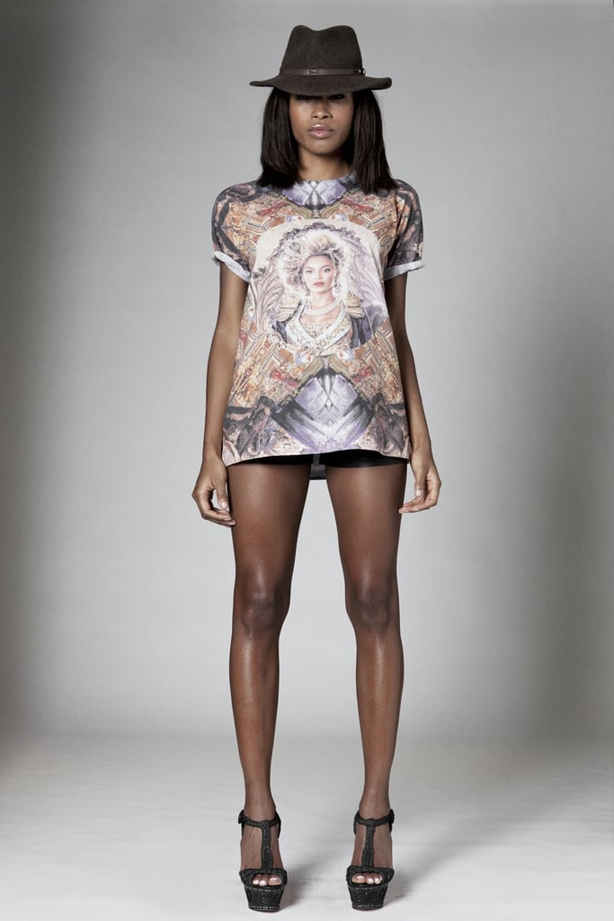 Fit for a queen, we love the mirrored framing effect of this Versailles-inspired kaleidoscope-print t-shirt ($55) that repurposes the oh-so-opulent official Mrs. Carter tour imagery.  Source: Beyoncé Online Shop