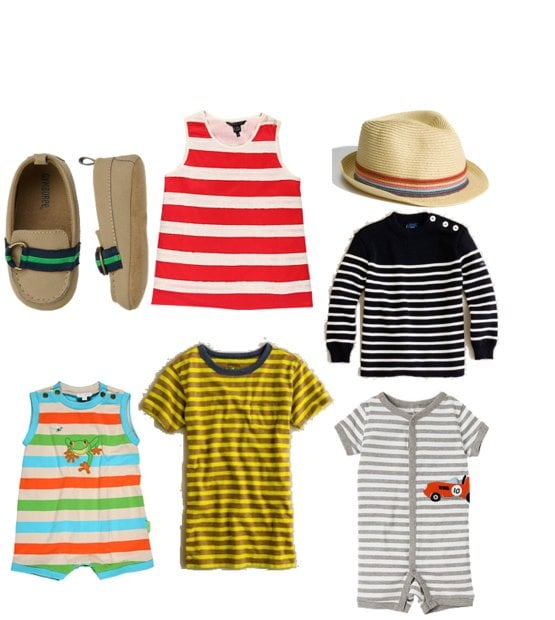 Bright Stripe Fashions For Babies and Toddlers