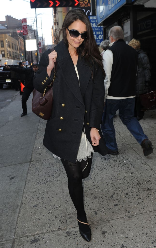 Katie Holmes headed to her final performance for Dead Accounts.