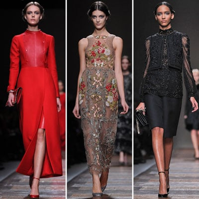 Review and Pictures of Valentino Autumn Winter 2012 Paris Fashion Week Runway Show