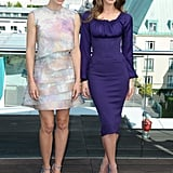 Jessica Biel and Kate Beckinsale got together at the Total Recall photocall in Berlin.
