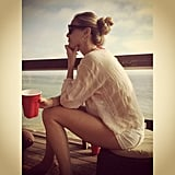 Whitney Port celebrated the Fourth of July by the water. Source: Instagram user whitneyeveport