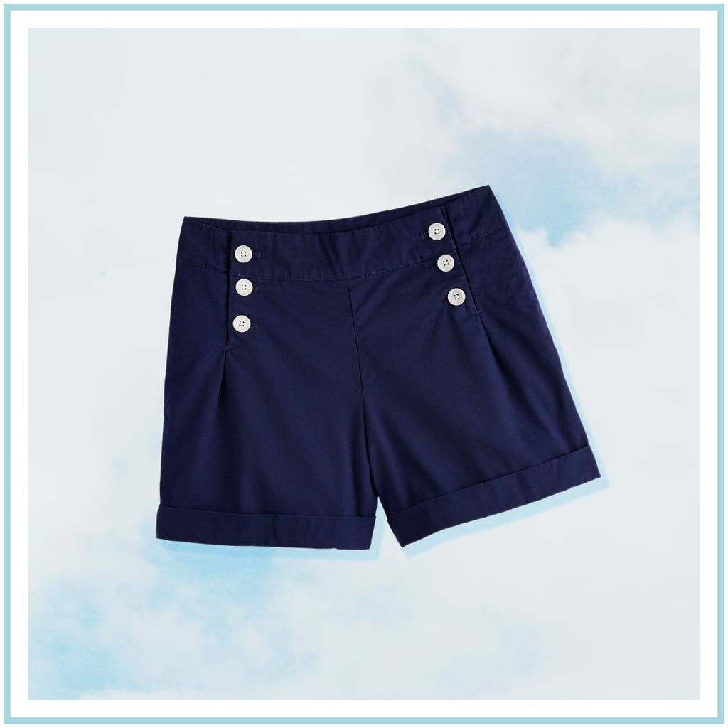 Button-Front Shorts