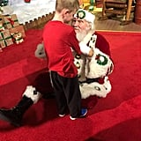 Santa Gets Down on Floor For Boy With Autism Who Is Blind