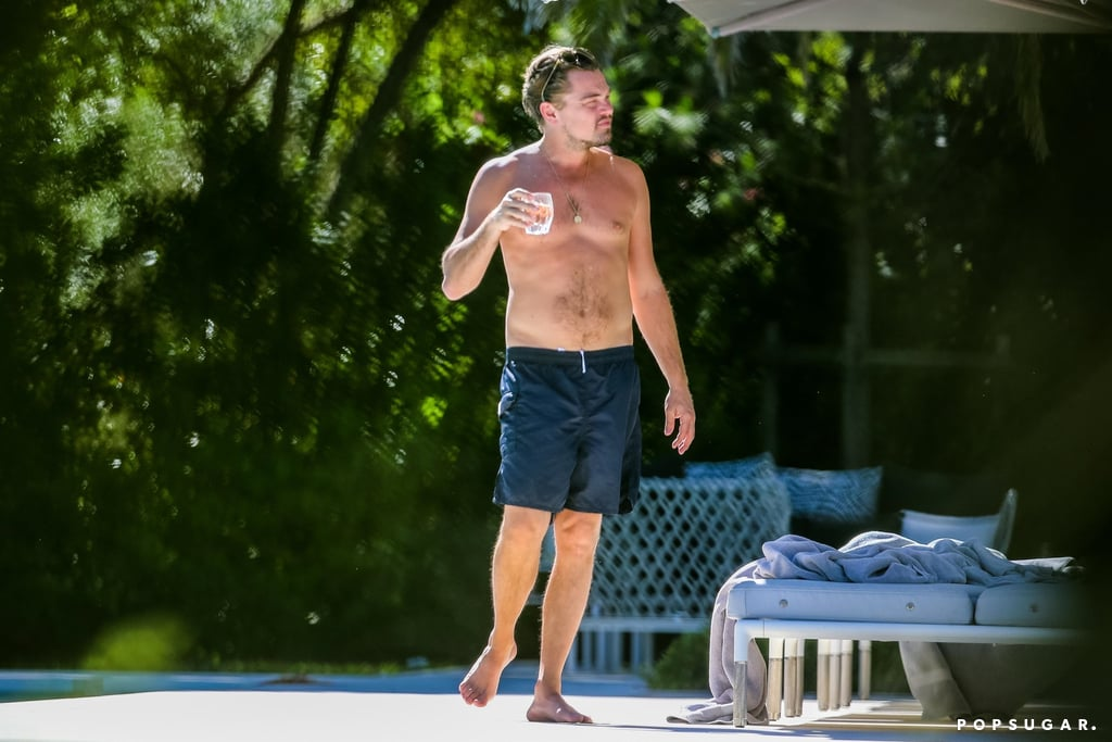 Leonardo Dicaprio And Kate Winslet By The Pool In St Tropez