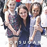 Katie Holmes posed with two little girls on set in NYC.