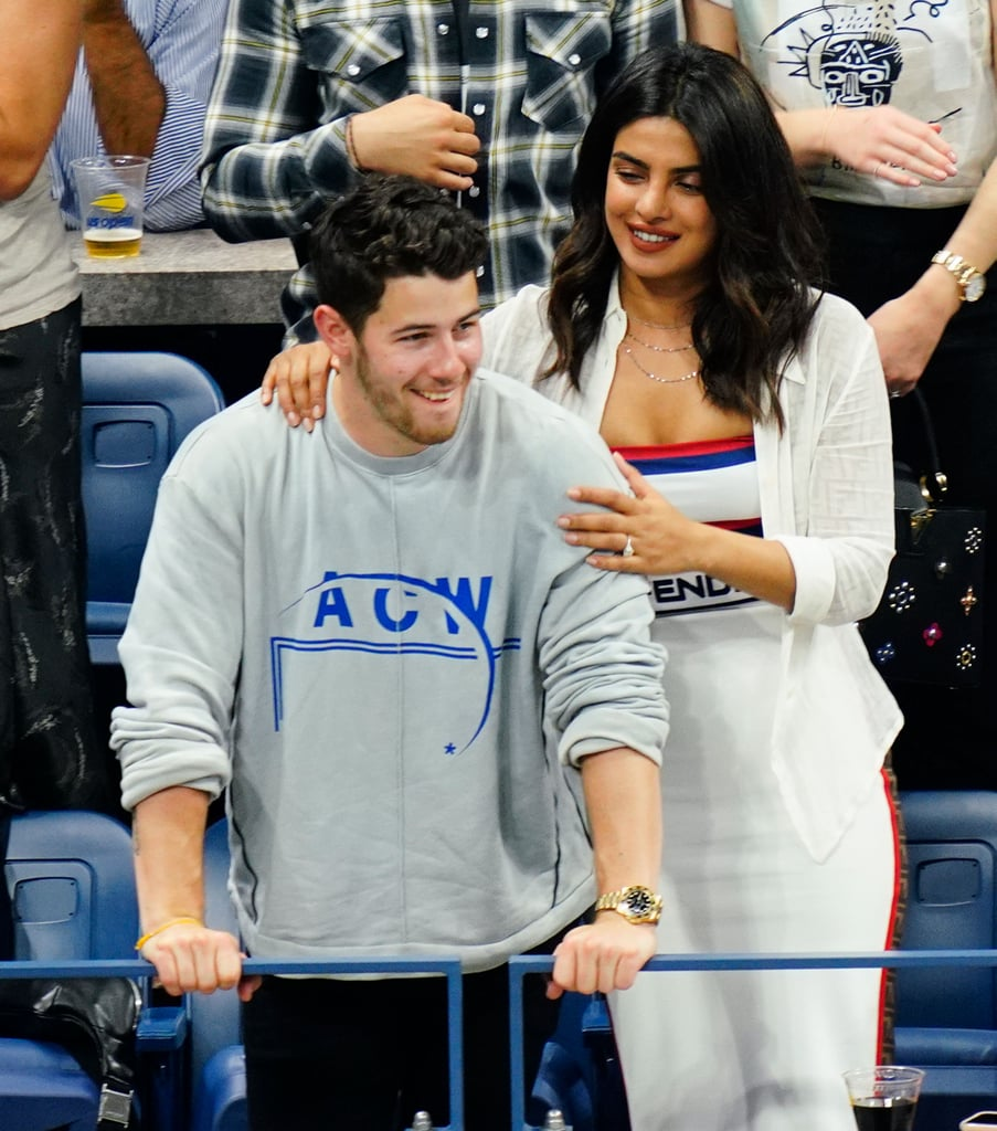 Nick Jonas And Priyanka Chopra At The US Open September