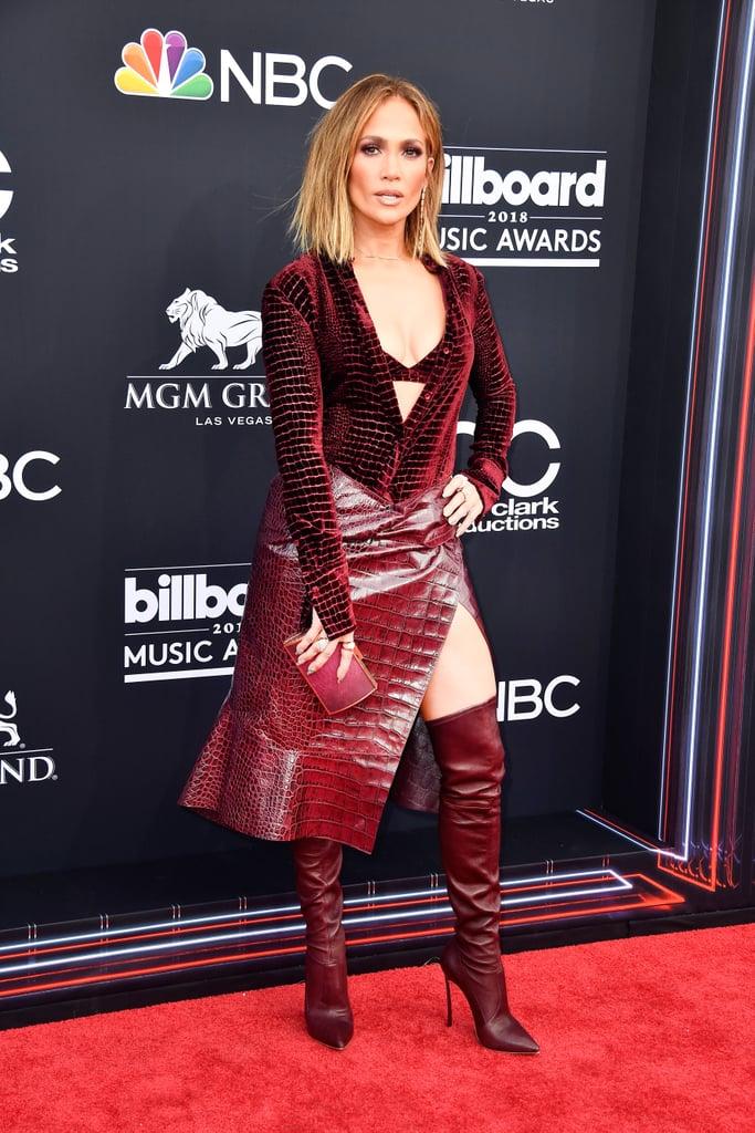 cd777c92b8 Jennifer Lopez in Roberto Cavalli   Sexiest Dresses at the Billboard ...