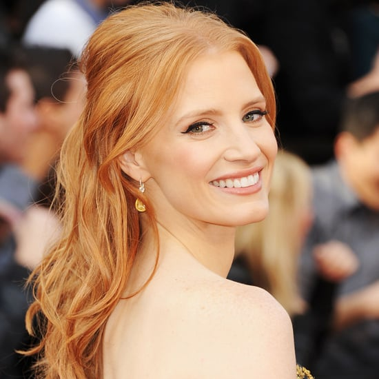 Jessica Chastain's 2012 Oscars Hair and Makeup Look