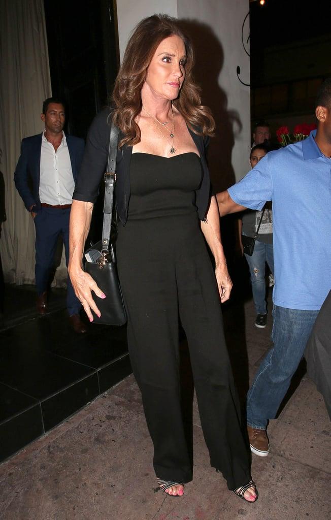 Caitlyn Jenner Wearing Black Jumpsuit