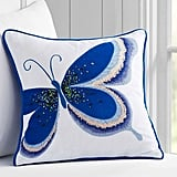 Pottery Barn Kids Embellished Butterfly Decorative Sham