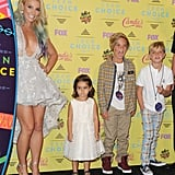 In 2015, Britney Spears won the Candie's choice style icon award and was accompanied by her adorable sons, Sean and Jayden, and niece Lexie.