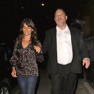 Penelope Cruz and Harvey Weinstein Leave Dinner
