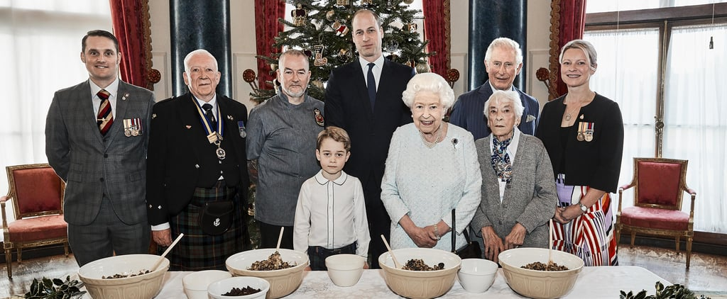 Prince George Makes Christmas Puddings With the Queen