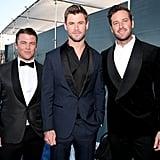 Pictured: Luke Hemsworth, Chris Hemsworth, and Armie Hammer