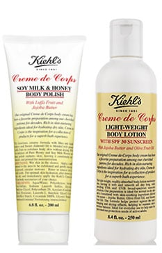 New Product Alert:  Kiehl's Creme De Corps Lotion and Soy Milk & Honey Body Polish