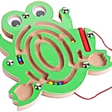 Magnetic Wooden Bead Maze Puzzle