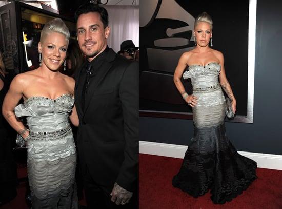 Pink and Carey Hart at 2010 Grammy Awards 2010-01-31 17:46:35