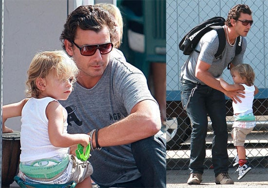 Photos of Gavin Rossdale and Kingston Rossdale at Farmers Market