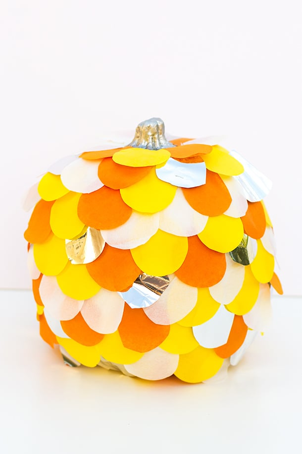 Scalloped tissue paper pumpkin no carve ideas