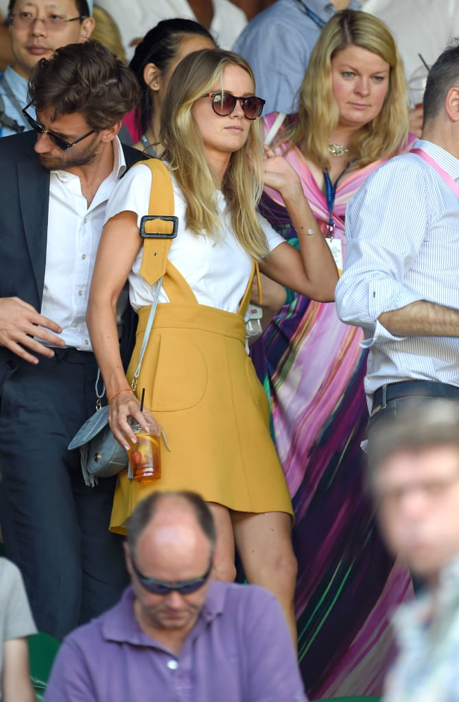 Cressida Pulled Off a Mustard-Yellow Overall Dress