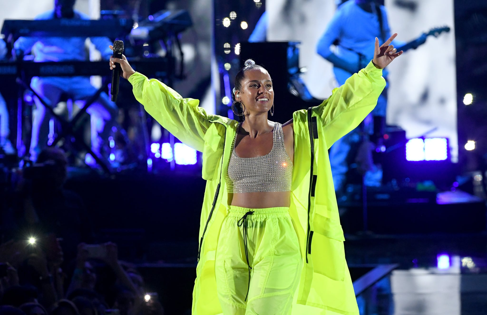 LAS VEGAS, NEVADA - SEPTEMBER 21: (EDITORIAL USE ONLY) Alicia Keys performs onstage during the 2019 iHeartRadio Music Festival at T-Mobile Arena on September 21, 2019 in Las Vegas, Nevada. (Photo by Kevin Winter/Getty Images for iHeartMedia)