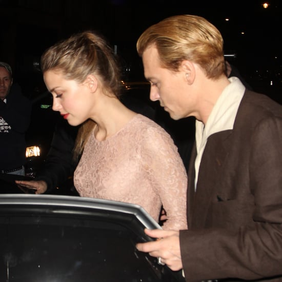 Blond Johnny Depp With Amber Heard in London