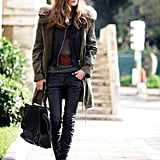 Leather leggings have become one of our favorite closet staples; so much sleeker than your average denim.