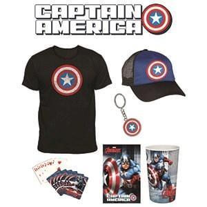 Captain America Showbag ($15) Includes:  Captain America t-shirt  Captain America cap  Captain America keyring