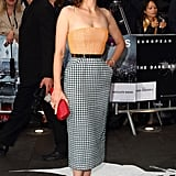 Marion Cotillard was ladylike perfection in a strapless Dior confection for the Dark Knight Rises premiere.