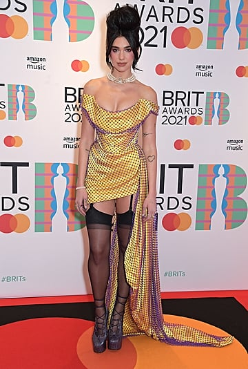 Dua Lipa's Yellow Vivienne Westwood Dress at the BRIT Awards