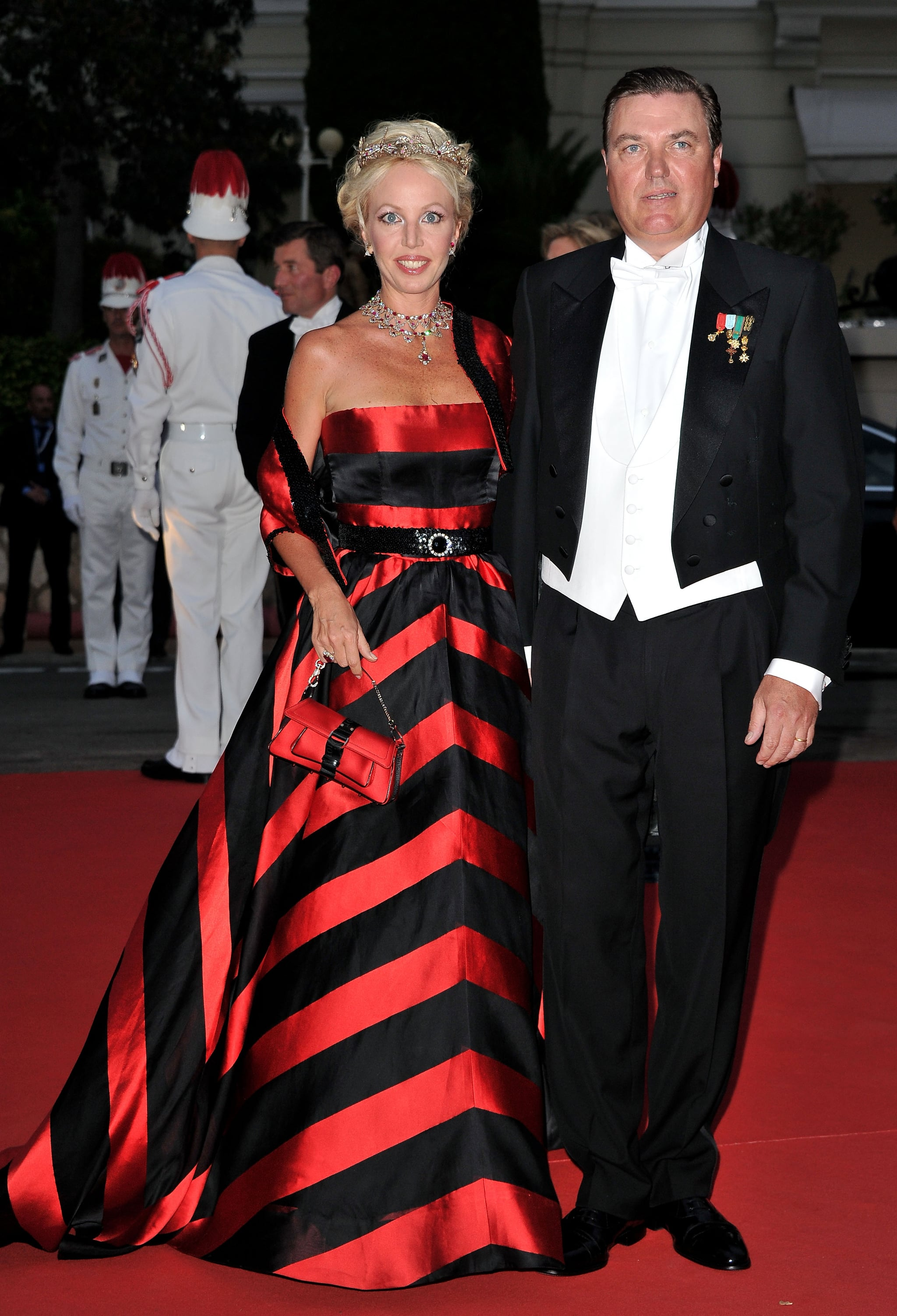 Italy's Prince Carlo of Bourbon-Two Sicilies attended a dinner at Opera terraces after the religious wedding ceremony of Prince Albert II of Monaco and Princess Charlene of Monaco.