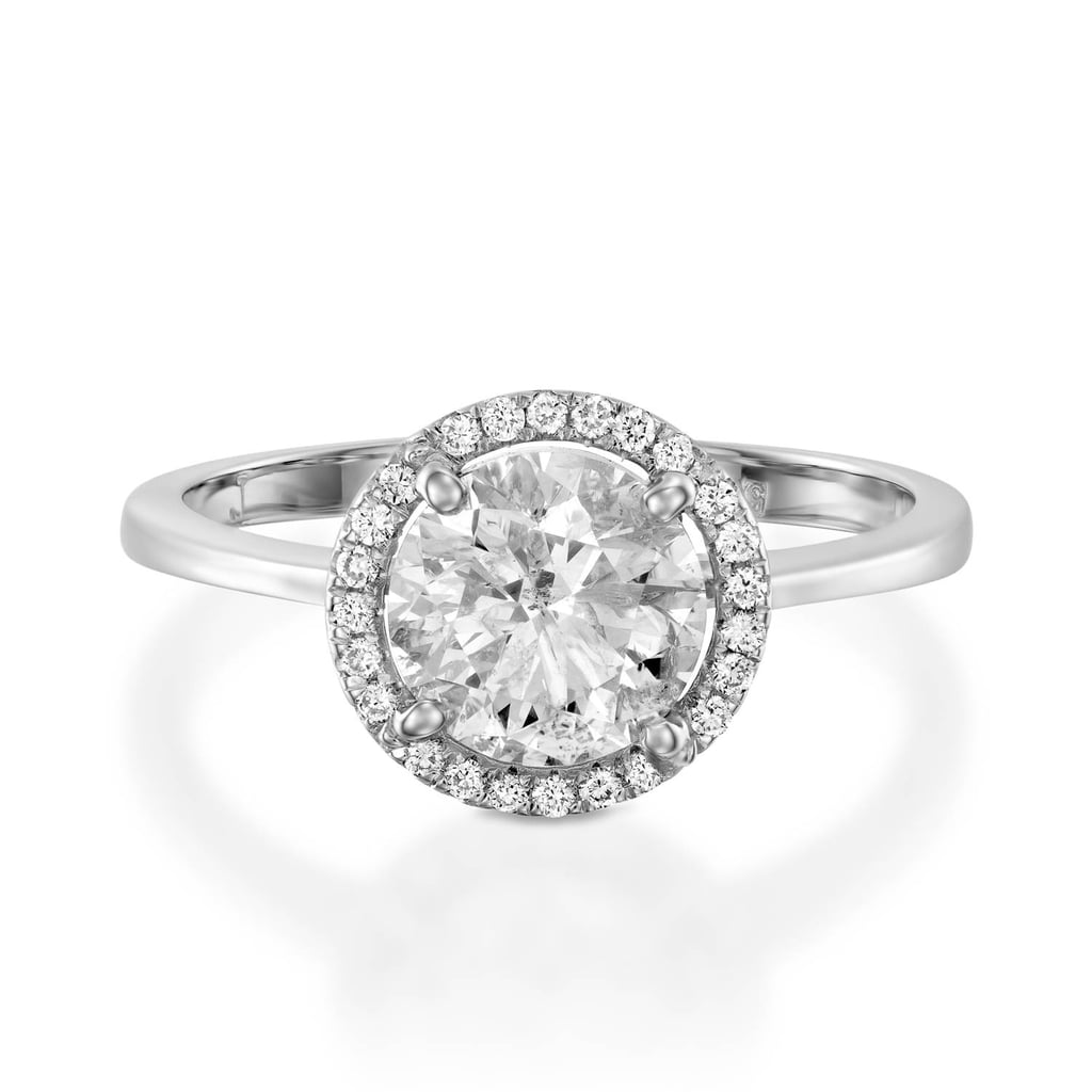 Moissanite Halo Engagement Ring