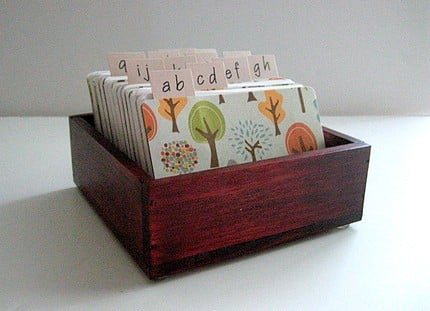 Handcrafted Address Card File ($22)