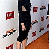 Portia de Rossi wore a cutout dress.