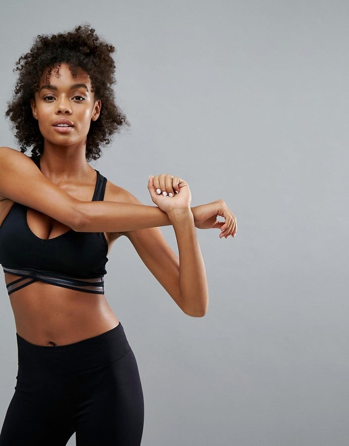Bershka Sports Bra With Mesh Detailing
