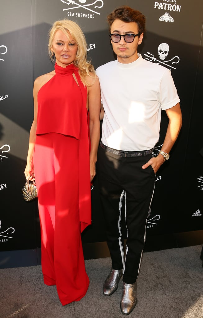 Pamela Anderson and Son at Sea Shepherd Charity Event