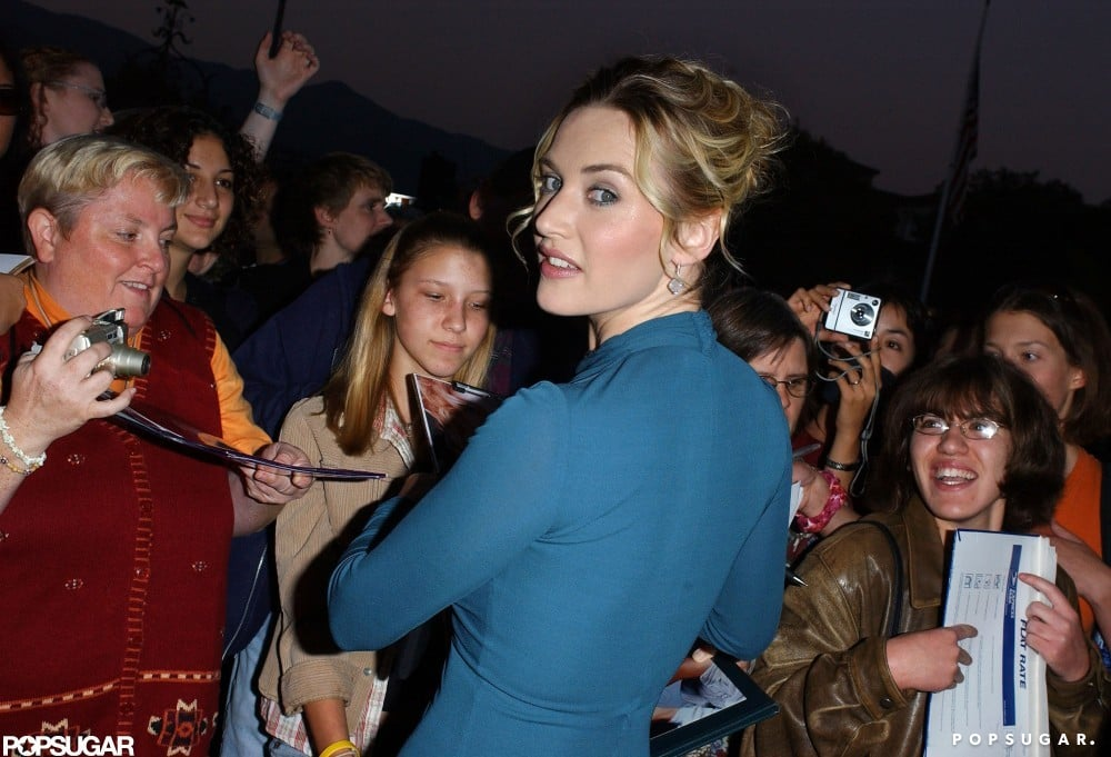 Kate Winlset gave a sexy look over her shoulder at the October 2004 Santa Barbara International Film Festival screening of Neverland.